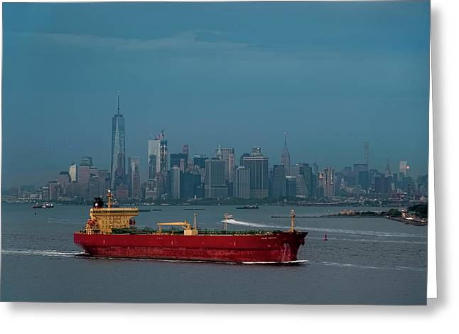 Greeting Card featuring the photograph Dusk Departure by Steve Sahm
