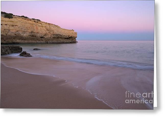 Dusk In Albandeira Beach Greeting Card