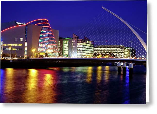 Dusk In Dublin Greeting Card