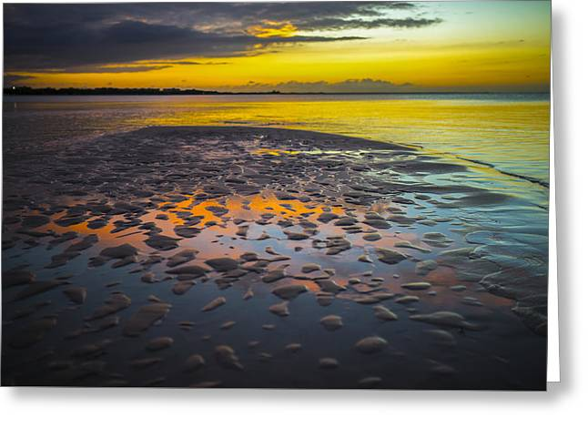 Dusk On Cayo Coco Greeting Card by Valerie Rosen