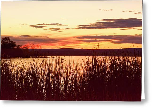 dusk on Lake Superior Greeting Card