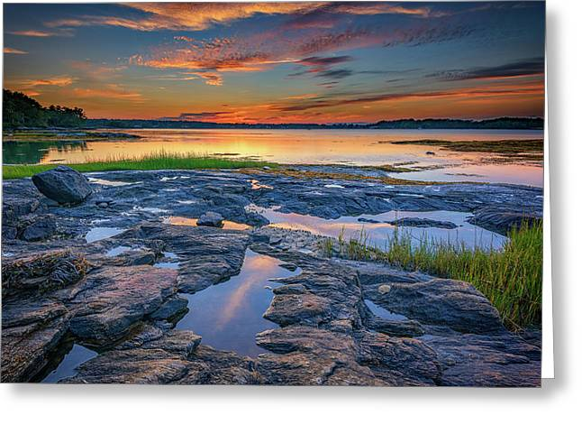 Dusk On Littlejohn Island Greeting Card