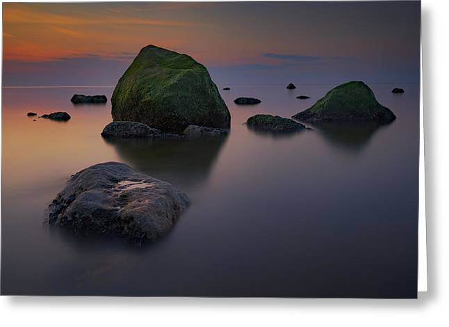 Dusk On Long Island Sound Greeting Card by Rick Berk
