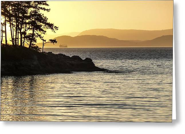 Dusk On Sucia Island Greeting Card