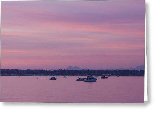 Dusk On The Bay Greeting Card by Idaho Scenic Images Linda Lantzy
