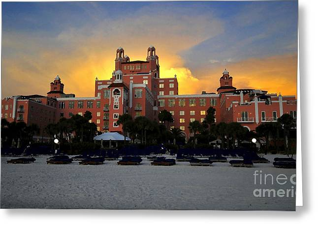 Dusk Over Don Greeting Card by David Lee Thompson