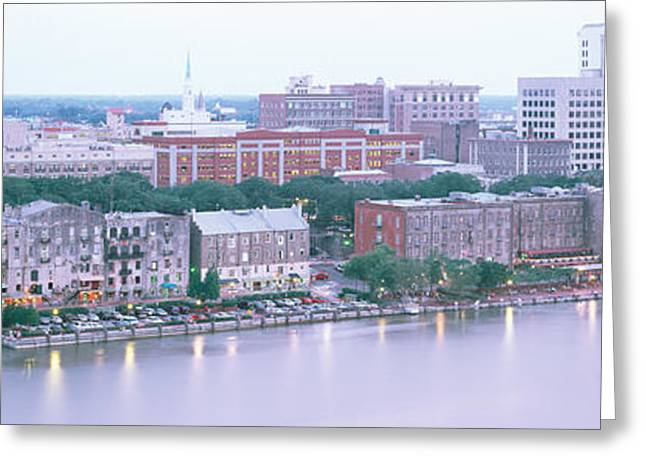 Dusk Savannah Ga Greeting Card by Panoramic Images