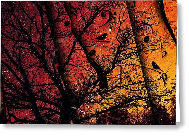 Dusk Song Greeting Card
