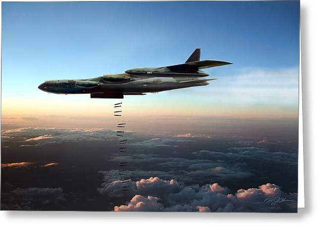 Dusk Strike B-52d Greeting Card