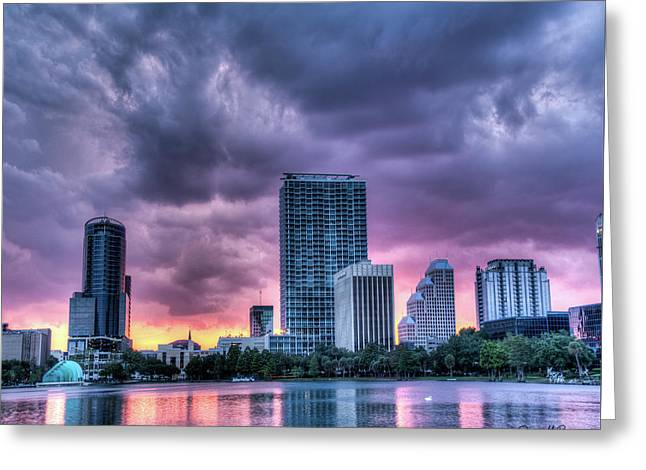 Dusky Downtown Orlando, Florida Greeting Card