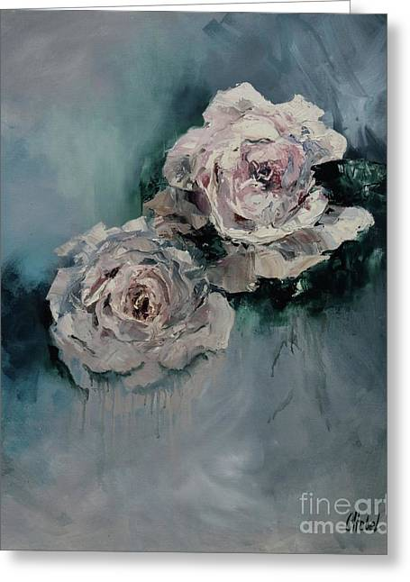 Dusky Roses Greeting Card