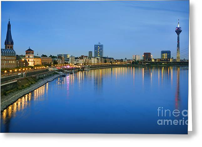 Dusseldorf Skyline  Greeting Card