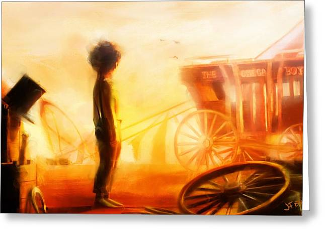 Dust Bowl Greeting Card by Jamie Fox