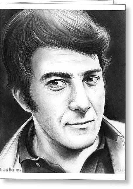 Dustin Hoffman Greeting Card by Greg Joens