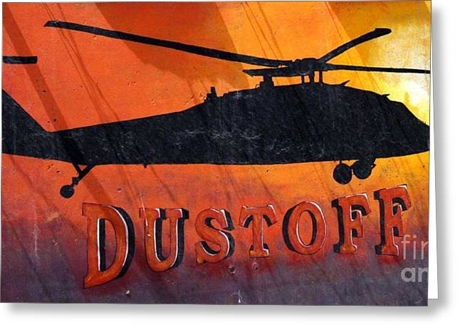 Dustoff Greeting Card by Unknown