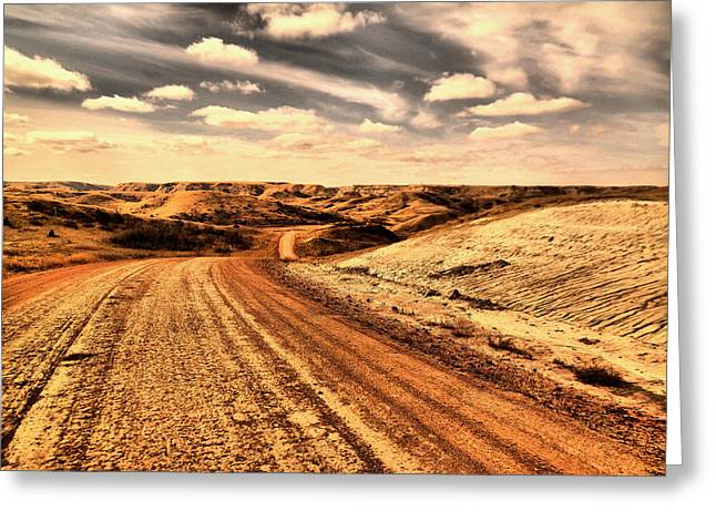 Dusty Dakota Road Greeting Card