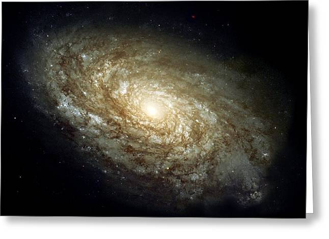 Dusty Spiral Galaxy  Greeting Card by Hubble Space Telescope