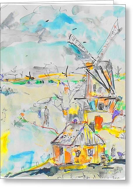 Dutch Canal Greeting Card