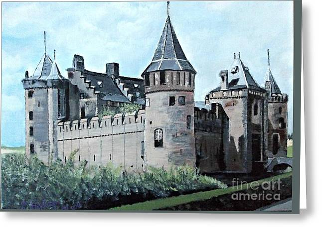 Dutch Castle In Muiden Greeting Card