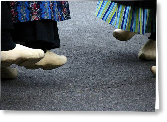 Dutch Dancers In Holland Greeting Card by Michelle Calkins