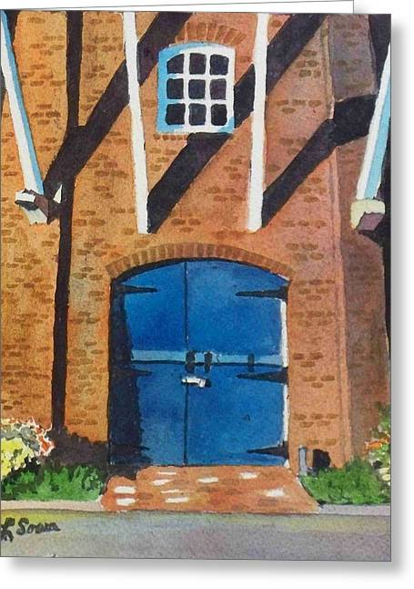 Greeting Card featuring the painting Dutch Door by LeAnne Sowa