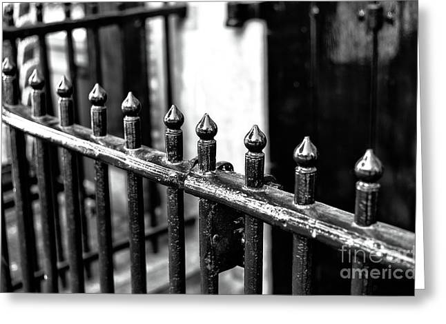 Dutch Iron Mono Greeting Card by John Rizzuto