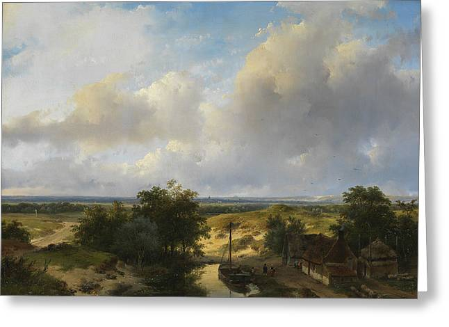 Dutch Landscape With A View Of Haarlem Greeting Card