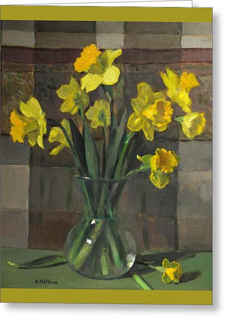 Dutch Master Narcissus In An Hourglass Vase Greeting Card