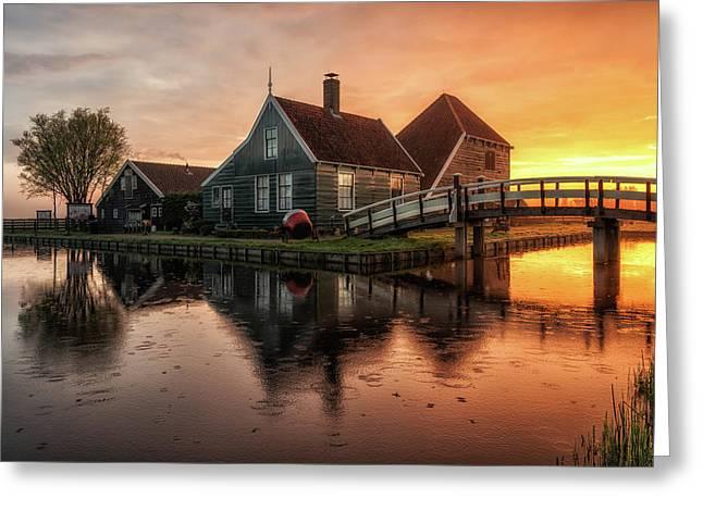 Dutch Morning Glory Greeting Card