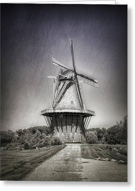 Dutch Windmill Greeting Card by Tom Mc Nemar