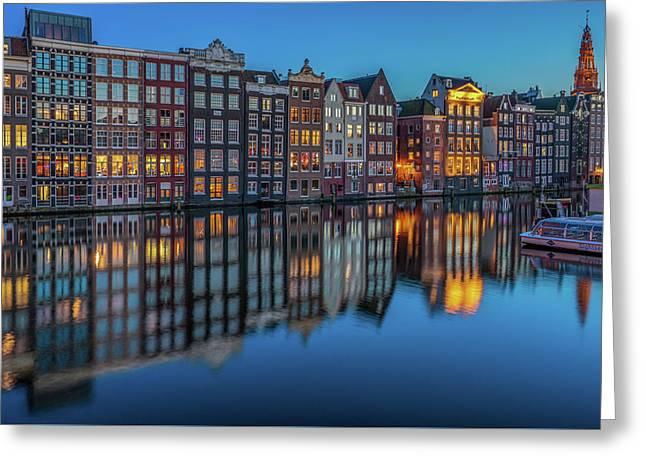 Dutch Windows Greeting Card by Reinier Snijders