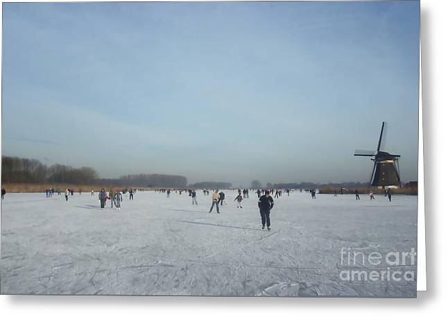 Dutch Winter Landscape Greeting Card