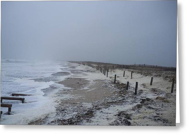 Greeting Card featuring the photograph Duxbury Beach Foam 2 by Conor Murphy