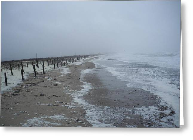 Greeting Card featuring the photograph Duxbury Beach Foam by Conor Murphy