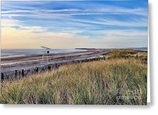 Duxbury Beach In September  Greeting Card