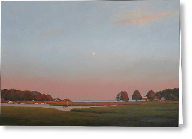 Duxbury Dusk Greeting Card by Dianne Panarelli Miller