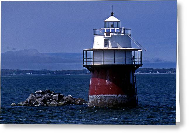 Duxbury Pier Lighthouse Ma Greeting Card by Skip Willits