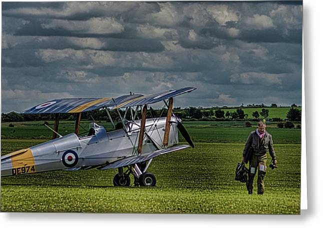 Duxford Greeting Card by Martin Newman