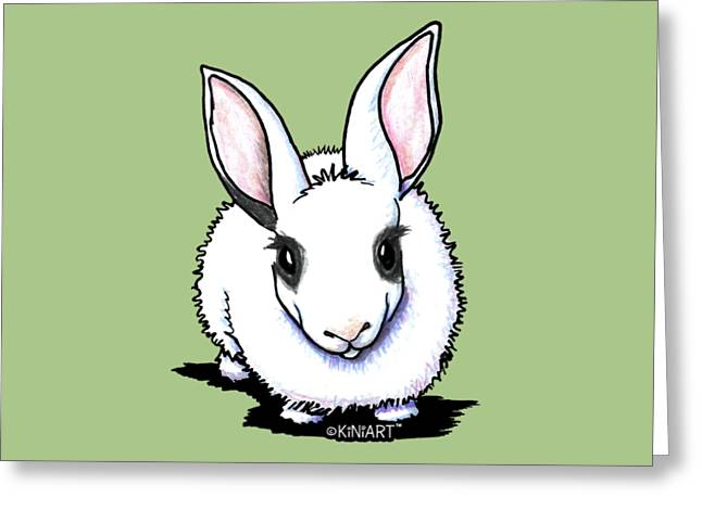 Dwarf Hotot Bunny Rabbit Greeting Card