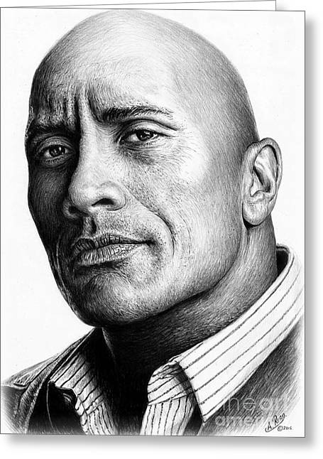 Dwayne The Rock Johnson Greeting Card