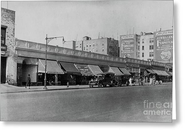 Greeting Card featuring the photograph Dyckman Street, 1927 by Cole Thompson