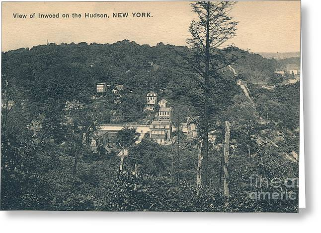 Dyckman Street At Turn Of The Century Greeting Card