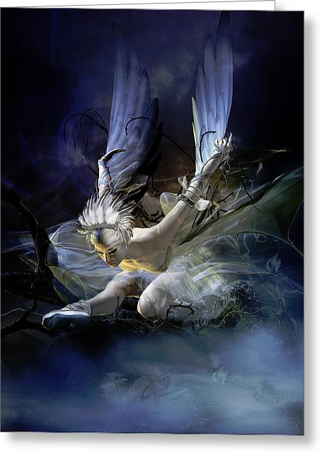 Dying Swan Greeting Card