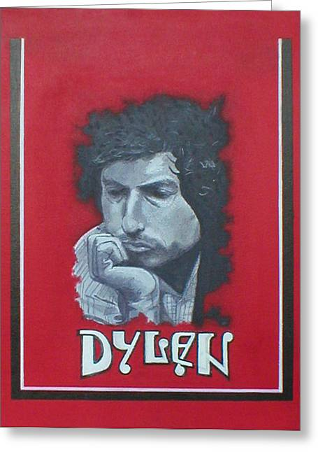 Dylan Greeting Card by Jimmy  Ovadia
