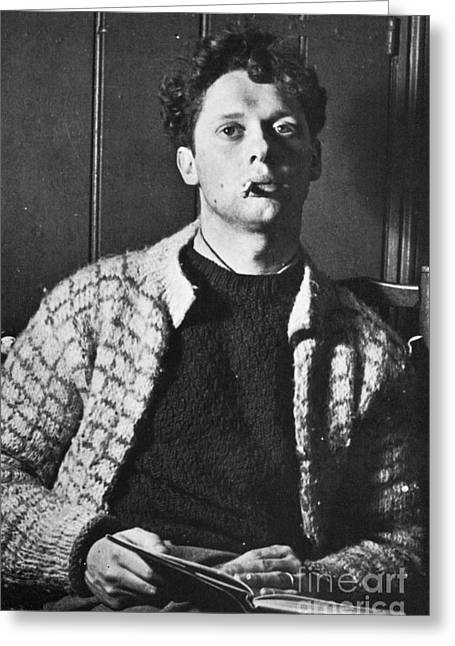 20th Greeting Cards - Dylan Thomas (1914-1953) Greeting Card by Granger