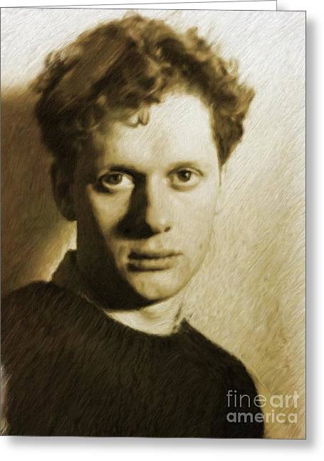 Dylan Thomas, Poet Greeting Card