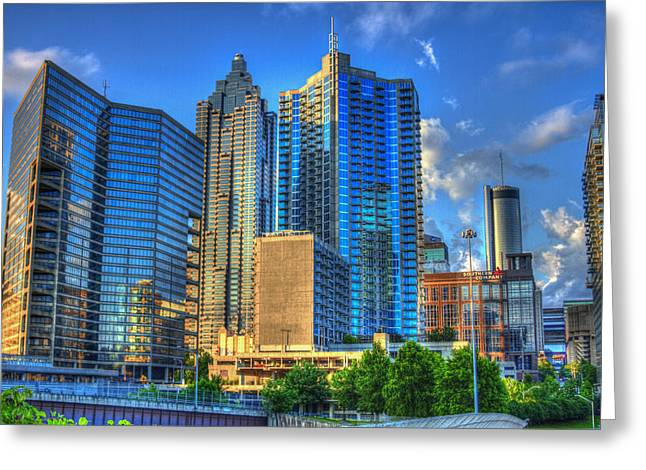 Dynamic Reflections Downtown Atlanta Georgia Art Greeting Card