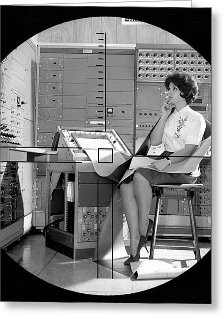 Dynamic Simulator Computer Greeting Card by Underwood Archives