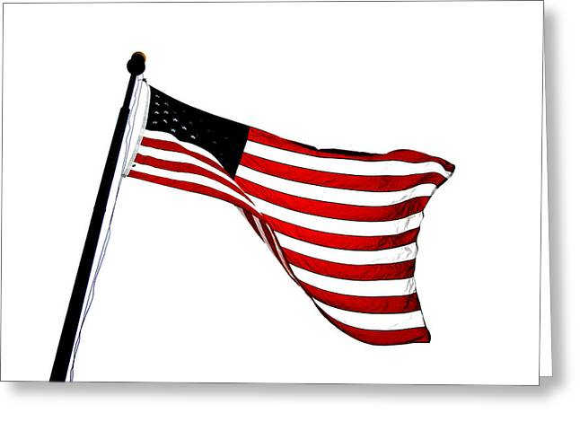 Dynamic Stars And Stripes Greeting Card