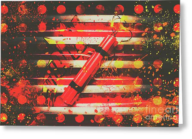 Dynamite Artwork Greeting Card by Jorgo Photography - Wall Art Gallery